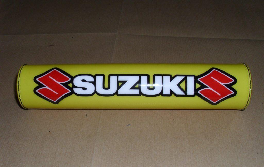 Paracolpi manubrio Suzuki logo bianco